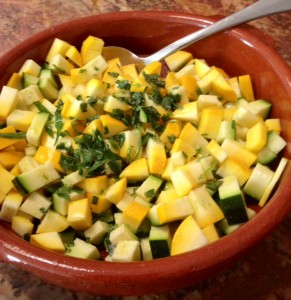 Zucchini and Squash Summer Salad